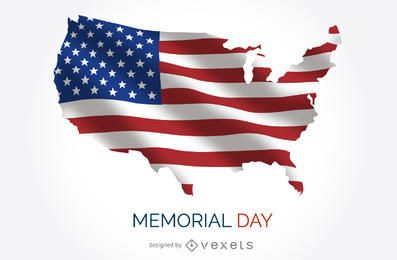 Cartel del Memorial Day de los EEUU
