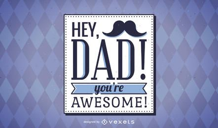 Hipster Father's Day card