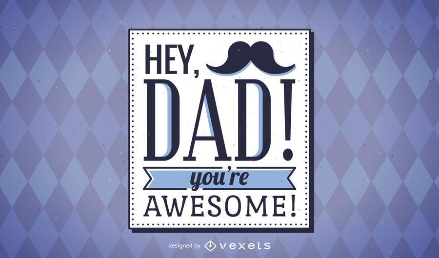 Cartão de dia dos pais hipster