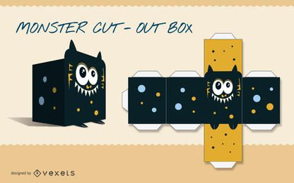 Monster paper craft template
