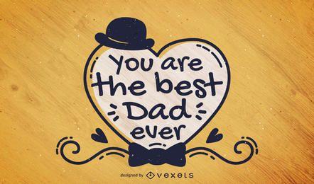 Cartão Handwritten do dia de pai
