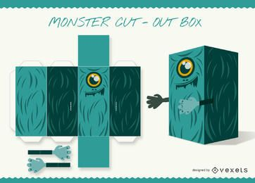 Monster cut-out caixa de papel artesanal