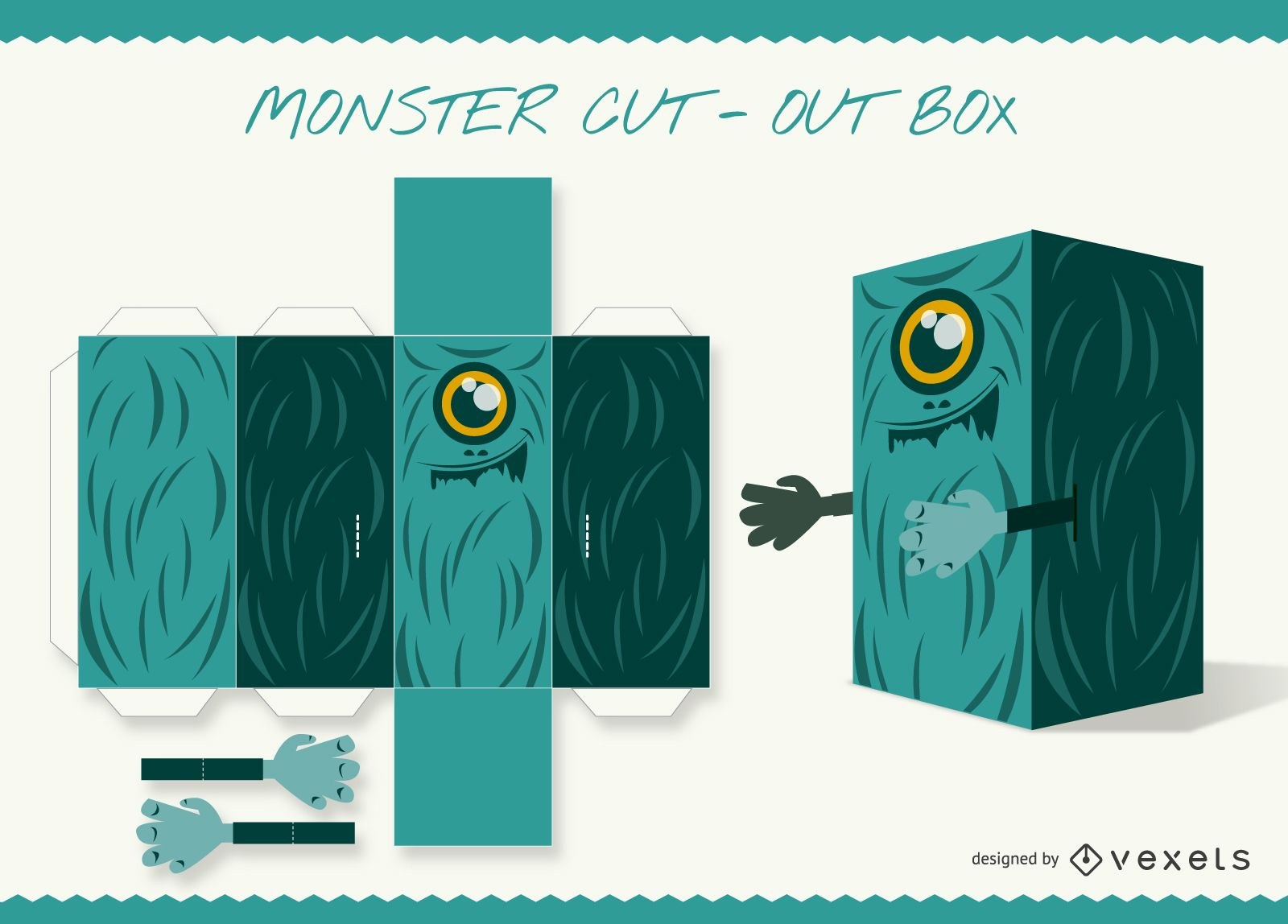 Monster cut-out box paper craft