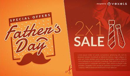Folleto de venta del día del padre