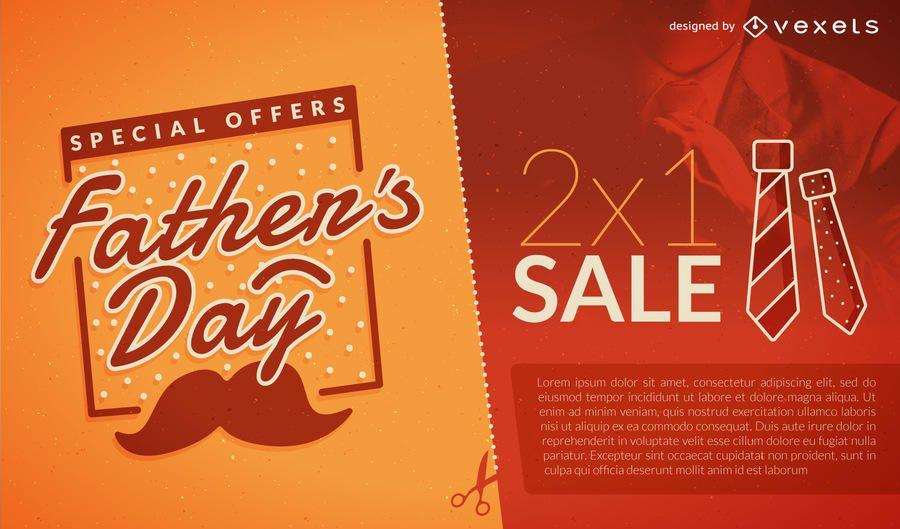 Folheto de venda do dia dos pais