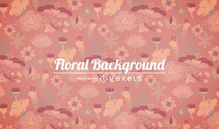 Tons de fundo floral