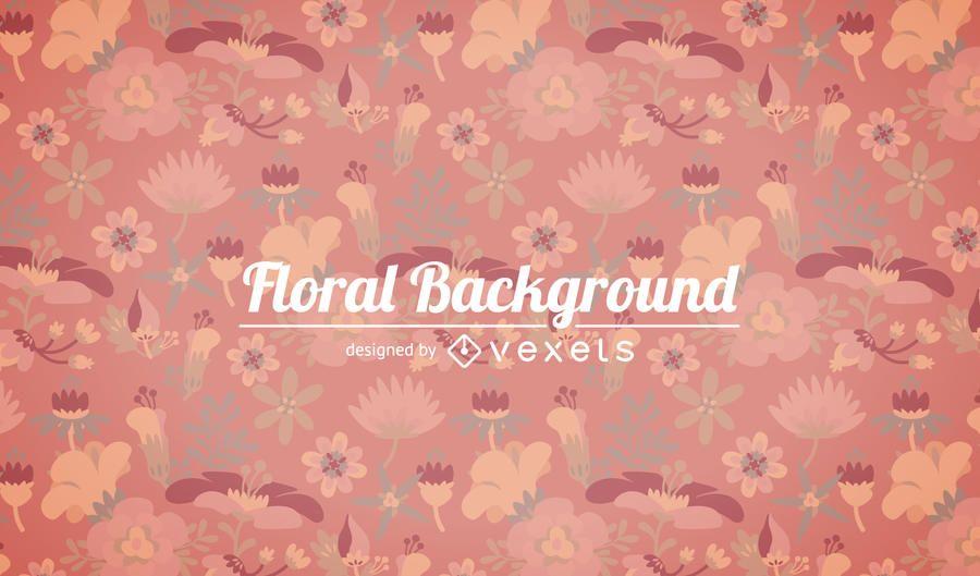 Soft tones floral background
