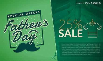 Green Father's Day sale promo
