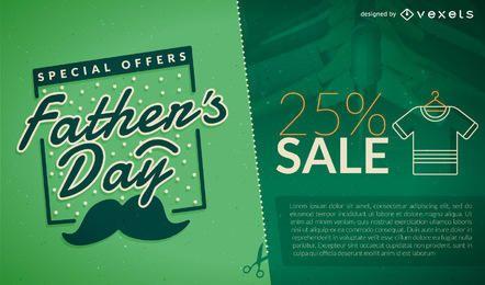 Promoción del día del padre verde