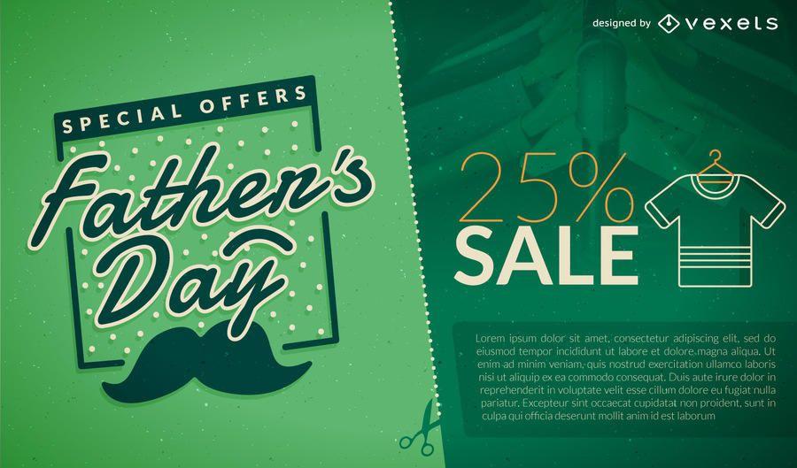 Promo de venda do dia dos pais verde