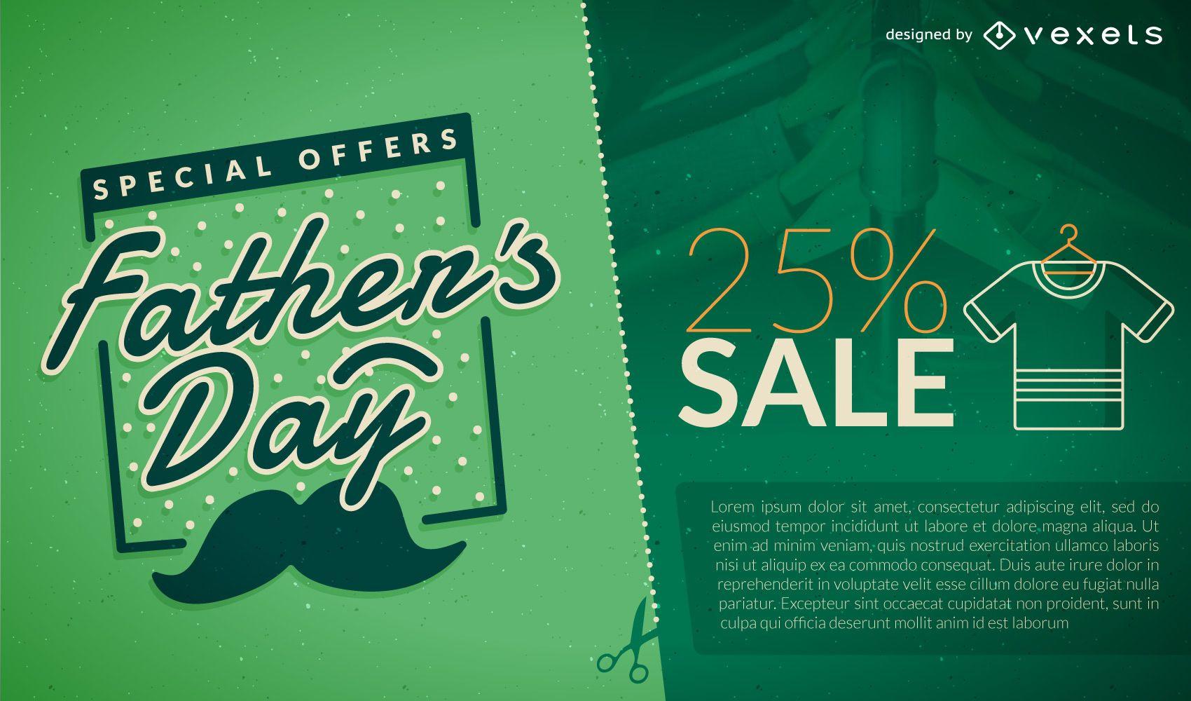 Promoción de venta del Día del Padre Verde