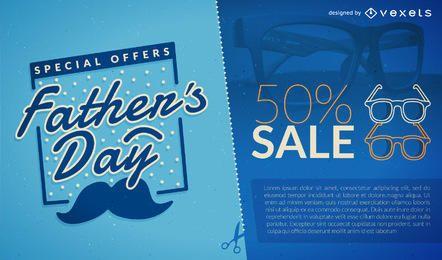 Promoção de venda do dia do pai azul