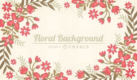 Flat flowers frame background