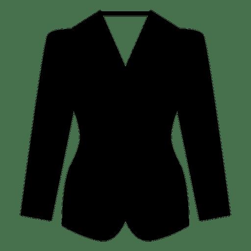 Ícone de roupas de blazer preto Transparent PNG