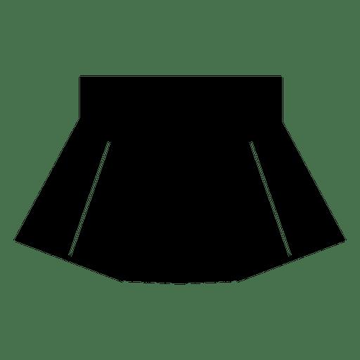 Black skirt silhouette clothes Transparent PNG