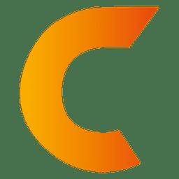 Isotipo origami letra c