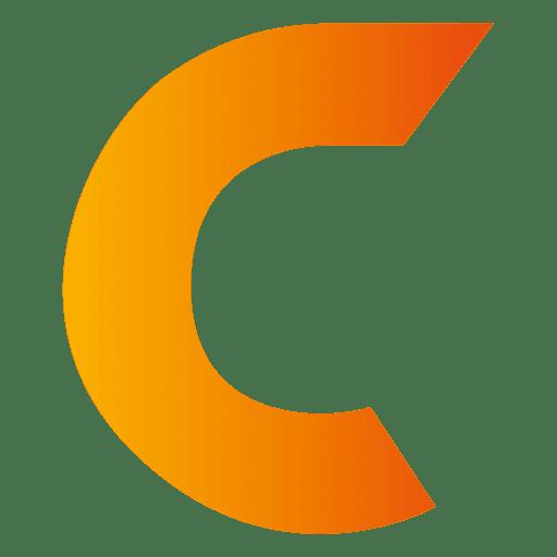 C letter origami isotype - Transparent PNG & SVG vector