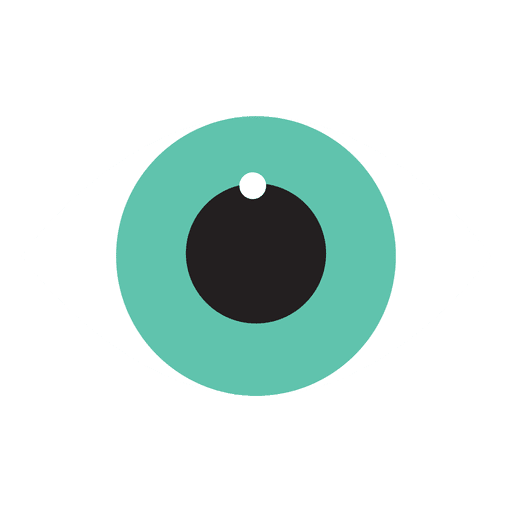 Icono de ojo plano
