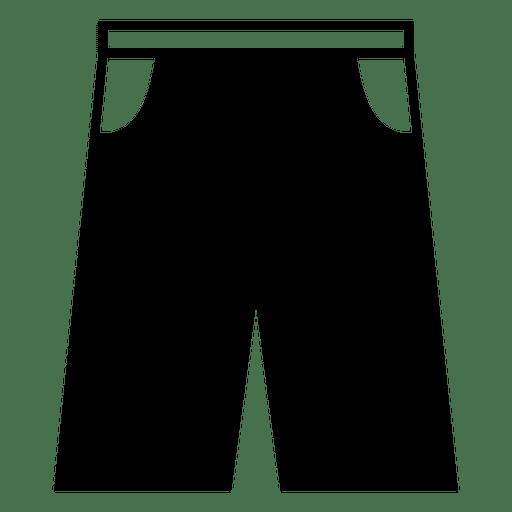 Jean short icon Transparent PNG