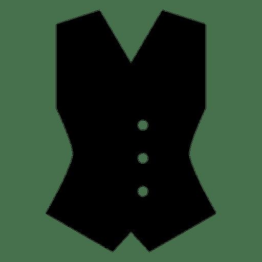 Vest clothes silhouette