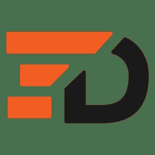 Barras d letras logo