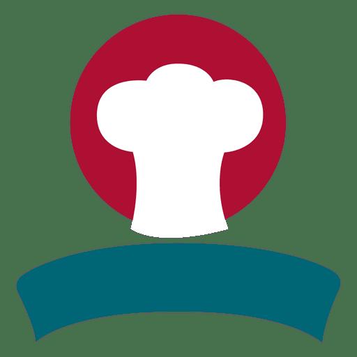 Isotipo de cinta de sombrero de chef