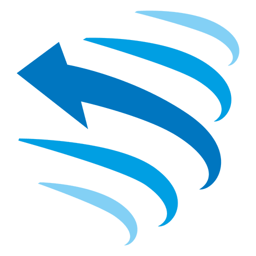Curved lines arrow icon