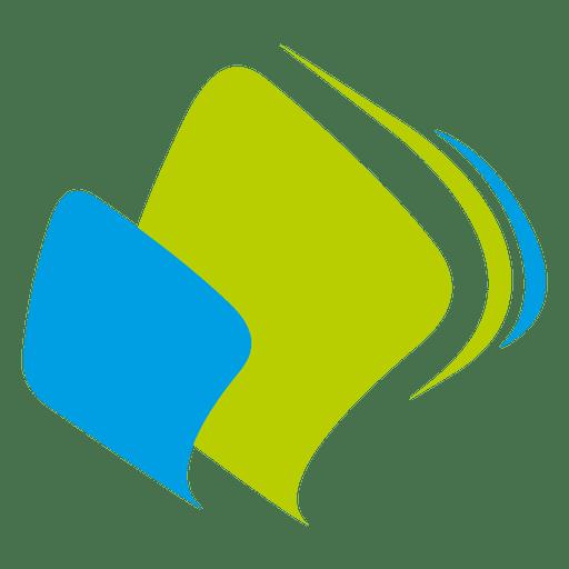 Ícone de retângulos de curvas Transparent PNG