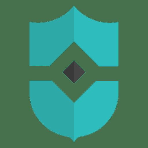 Flat blue emblem shield Transparent PNG