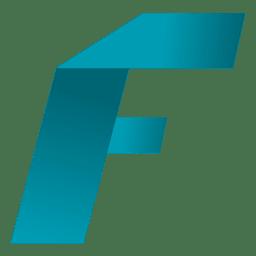 Isotipo de origami de letra F