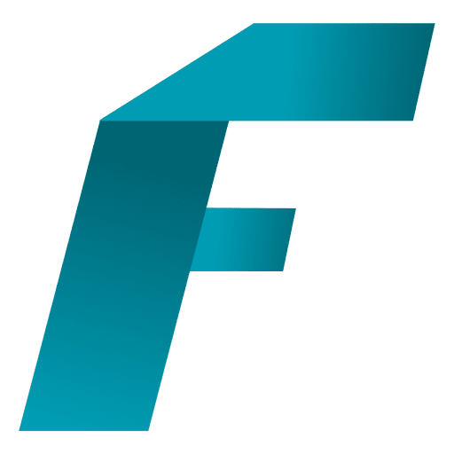 F letter origami isotype Transparent PNG