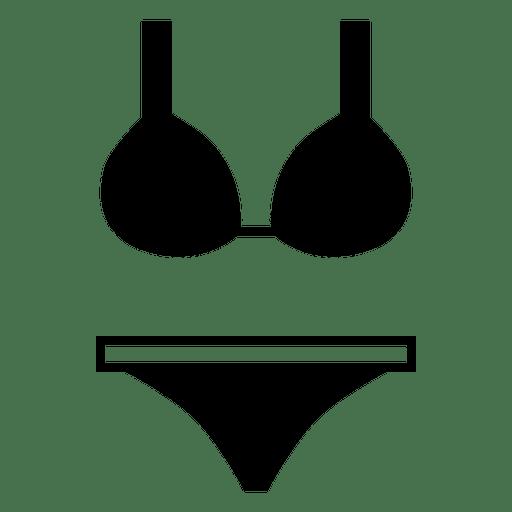 Flat black bikini underwear Transparent PNG