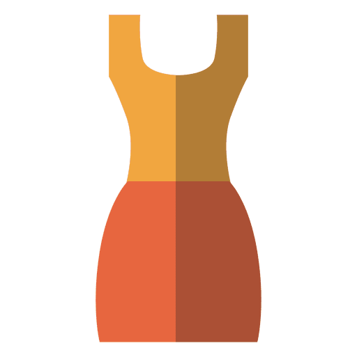 Flat orange dress clothing Transparent PNG