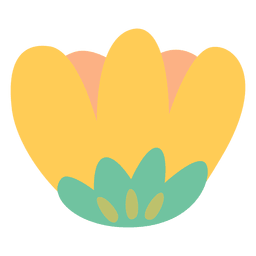 Flower illustration yellow doodle
