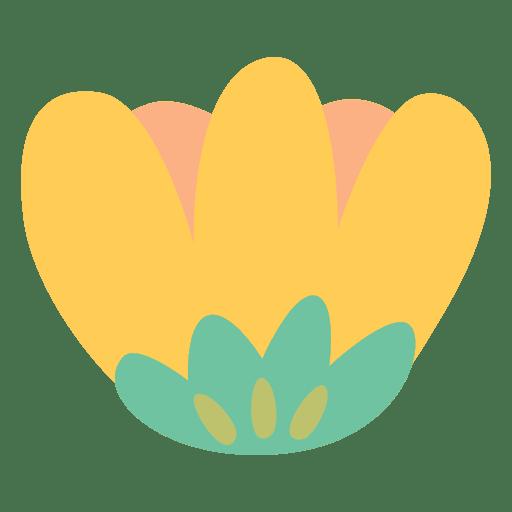 Flower Illustration Yellow Doodle