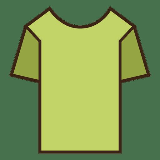 Green stroke tshirt clothes