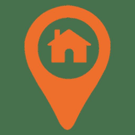 Ícone de marcador de localização de casa Transparent PNG