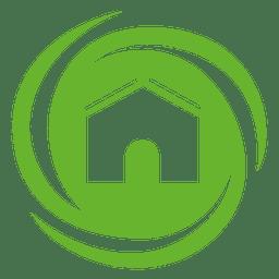 Haus wirbelt Symbol