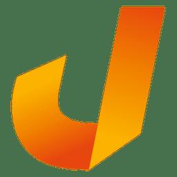 Isotipo de origami de letra J
