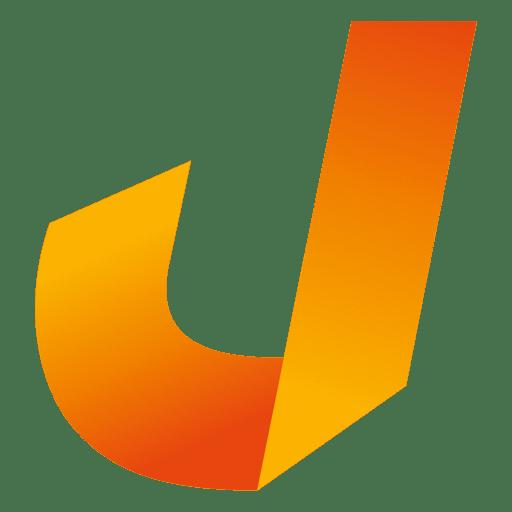Isotipo origami letra j