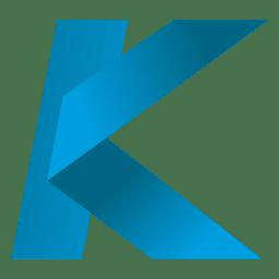 Isotipo de origami de letra K