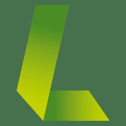 L letter origami isotype Transparent PNG
