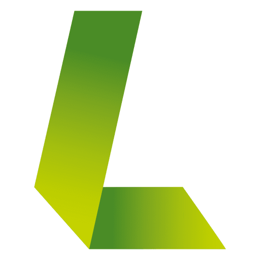 L letter origami isotype
