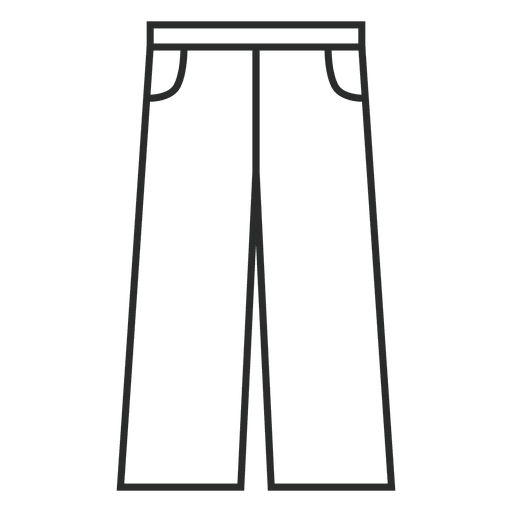 Linear jean clothing Transparent PNG