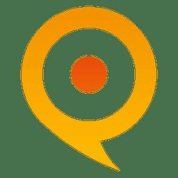 Icono de globo de puntero naranja