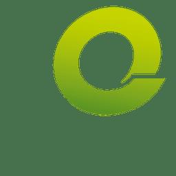 Isotipo de origami de letra Q