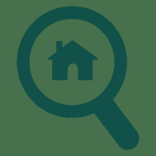 real estate magnifier logo transparent png amp svg vector