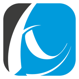 Logo de curvas cuadradas