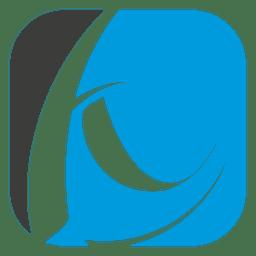 Logotipo de curvas quadradas