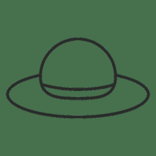 Stroke lady hat Transparent PNG